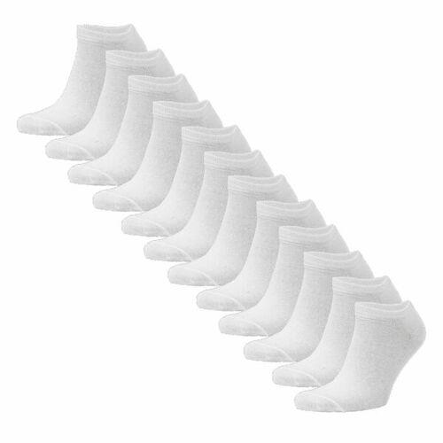 Opi & Max 12er Set Bambus Sneaker Socke Herren Damen Bambussocken weiss 36-40