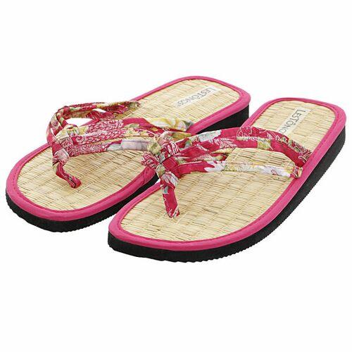 Les Tôngs Juncus-d Hue Gesunde Zimtlatschen - Vegane Flip-flops Mit Zimtsohle pink 39/40