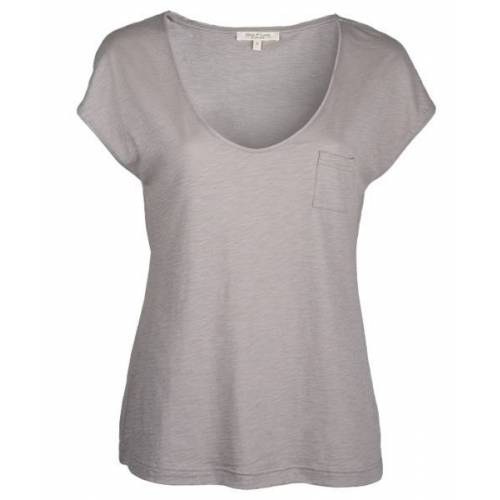 Alma & Lovis V-neck Shirt Atmosphere - Baumwoll Jersey Bluse atmosphere XS