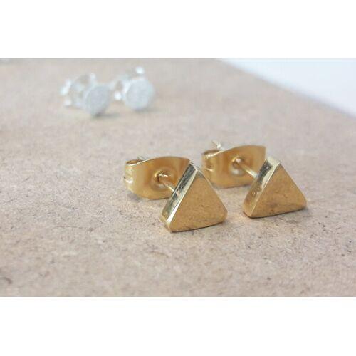 LUXAA Zarter Ohrstecker Dreieck - Gold gold