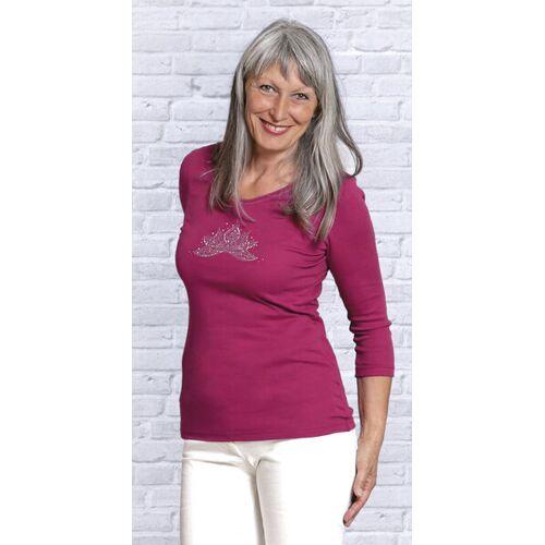 The Spirit of OM Shirt 3/4 Arm Ananda Lotus - Rosenrot lotus XS