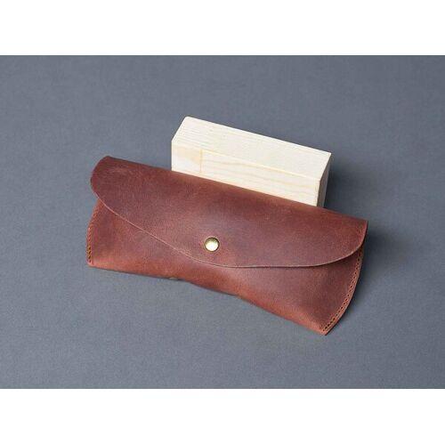 NOY Spectacle Case \ Brillenetui Aus Leder Brillen Case Damen Herren Inkl. Geschenkbox braun