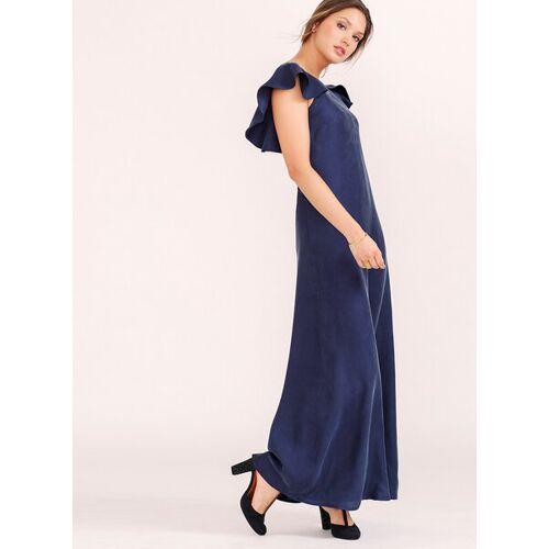 l'amour est bleu Langes Abendkleid Adriana Aus Cupro Vegan  S