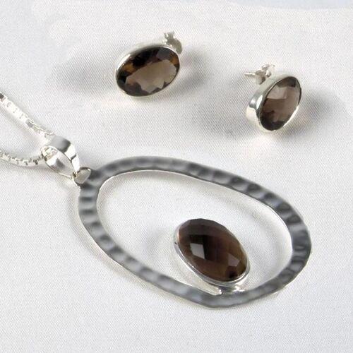 SANYALA Silber-schmuckset Oval Fairer Handel silber