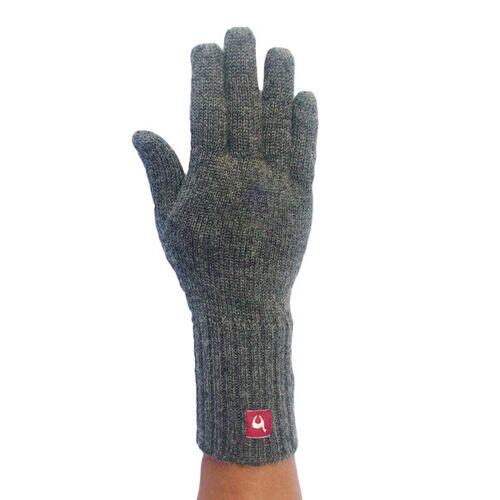 Apu Kuntur 100% Alpaka Finger-handschuhe Aus Peru grau M