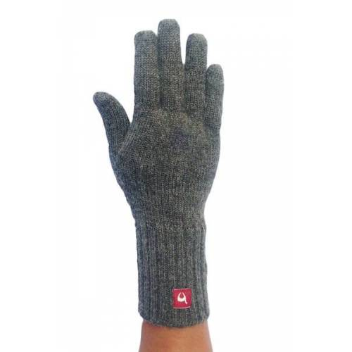 Apu Kuntur 100% Alpaka Finger-handschuhe Aus Peru grau L