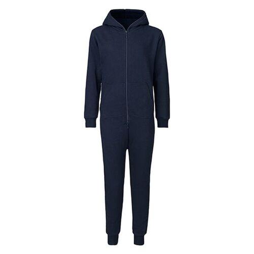 Neutral Damen Herren Unisex Hausanzug Jumpsuit navy XL