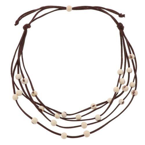 MoreThanHip-Joyas Paulina 5-saitige Halskette Mit Acai-samen creme