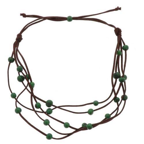 MoreThanHip-Joyas Paulina 5-saitige Halskette Mit Acai-samen grün
