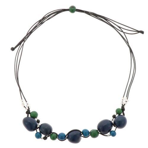 MoreThanHip-Joyas Jennyffer Halskette Mit Chicon Und Acai Samen blau/grün