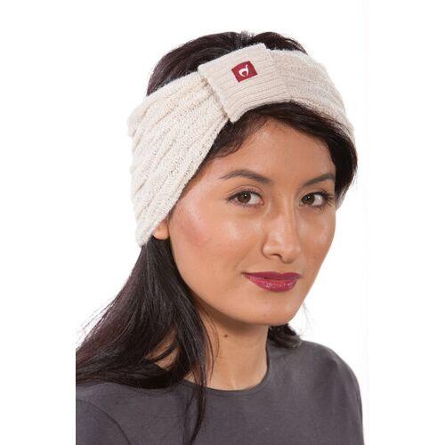 Apu Kuntur 100% Alpaka-stirnband Aus Peru - Biesen weiß