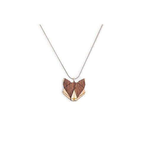BeWooden Halskette Fuchs   Kette Mit Anhänger Aus Holz fox