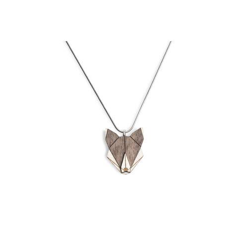 BeWooden Halskette Wolf   Kette Mit Anhänger Aus Holz wolf