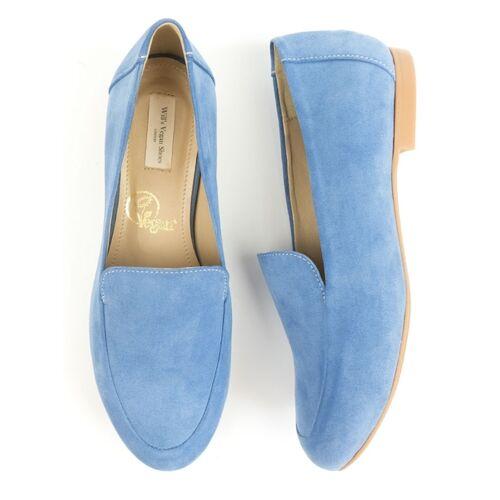 Will's Vegan Shop Loafer Blau Veganes Wildleder Damen blau veganes wildleder 37