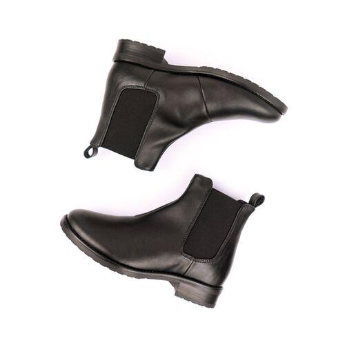 Will's Vegan Shop Elegante Chelsea-boots Schwarz Damen schwarz 40