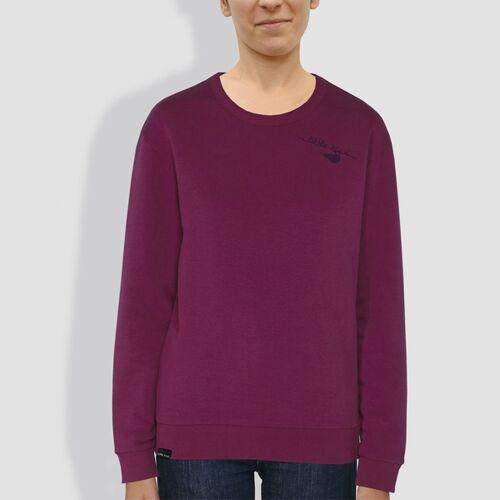"little kiwi Damen Sweater, ""Kiwi Verkehrt"", Purple Led purple L"