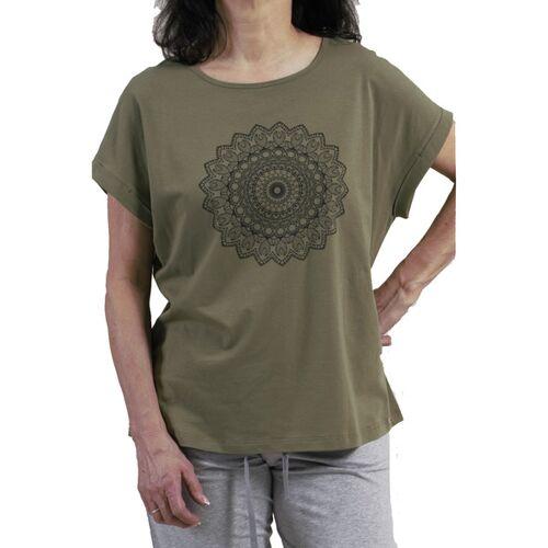 comazo|earth Damen Kurzarm-shirt/yoga-shirt avokado 40
