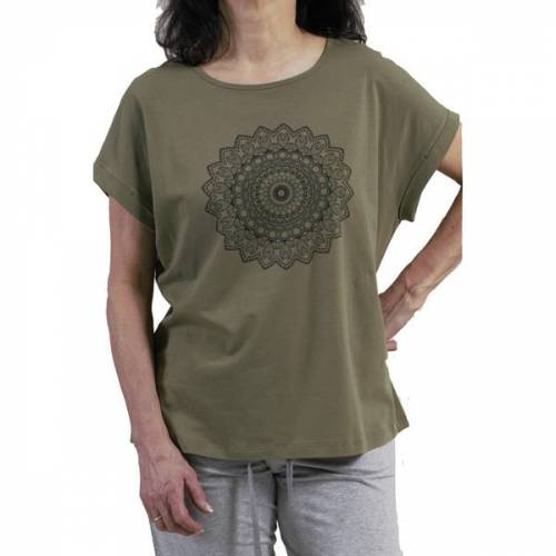 comazo|earth Damen Kurzarm-shirt/yoga-shirt avokado 42