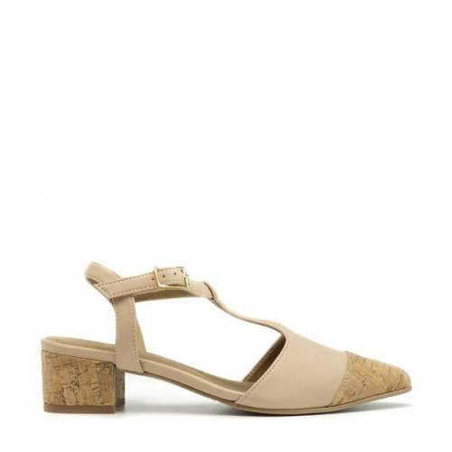 Nae Vegan Shoes Nae Duhr Nude   Veganer Damen- Point- Cap- T- Strap- Schuh nude 39