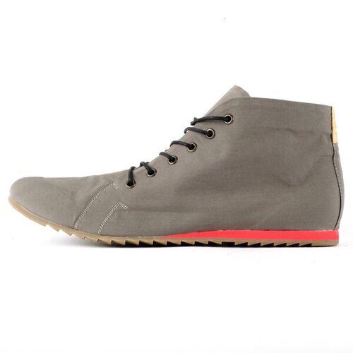 SORBAS '66 Vegane Sneaker Aus Wasserfester Bio-baumwolle Grau / Rot grau 42