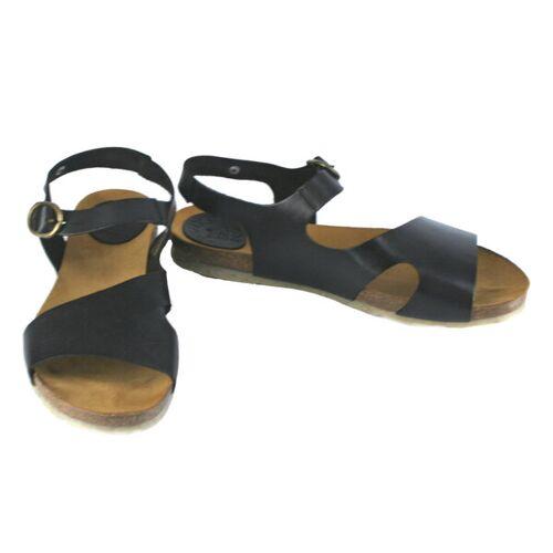 Jonnys Sandale, Geschwungene Form schwarz 40