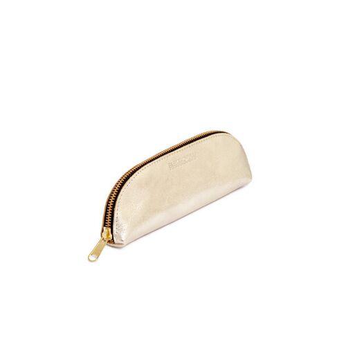 ELEKTROPULLI Brillen- Und Stiftetui Aus Leder Von Elektropulli gold