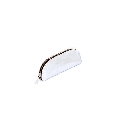 ELEKTROPULLI Brillen- Und Stiftetui Aus Leder Von Elektropulli silber