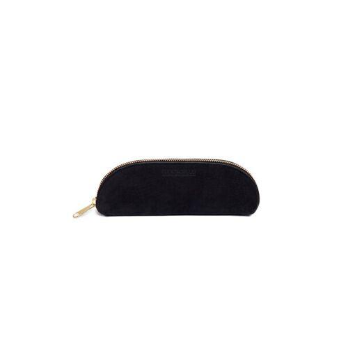 ELEKTROPULLI Brillen- Und Stiftetui Aus Leder Von Elektropulli schwarz grau