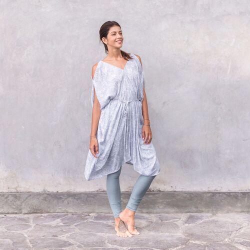 Jaya Mila Paisley - Damen - Tunika/kleid - Weiß paisley grey/weiß M/L