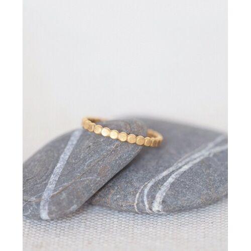 """pikfine Vergoldeter Ring """"Dot""""  m (56)"""