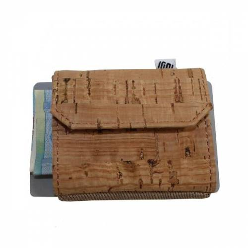 Space Wallet Mini Geldbörse Aus Kork natural