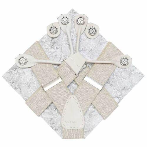 klYmp Hosenträger 'Classic' Uni beige s (110cm)