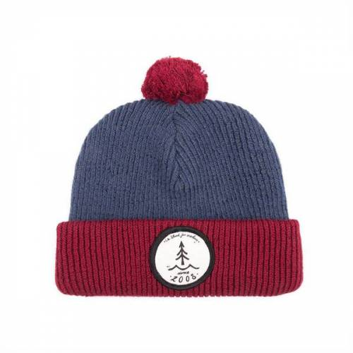 Bleed Bommels Beanie navy i red