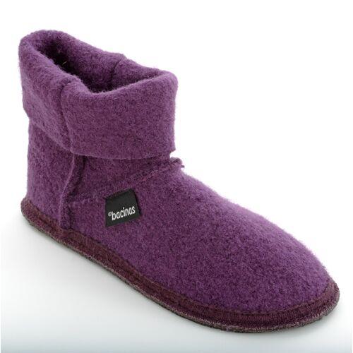 Bacinas Hausschuhe Ankle-boots Für Damen Aus 100% Wolle lila 42