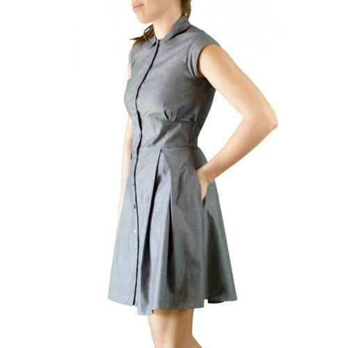 Mel Scherer Denim Button Up Kleid grey 38