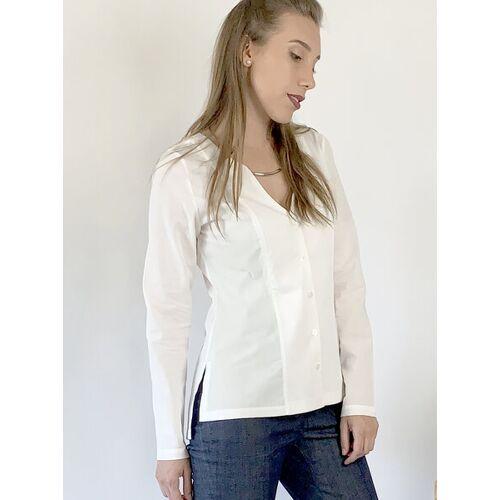 Mel Scherer Minimalistisches Weißes Hemd white 38