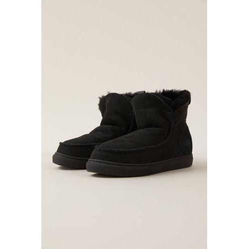 LANIUS Schaffell-boots Mit Leder black 40