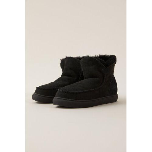 LANIUS Schaffell-boots Mit Leder black 41