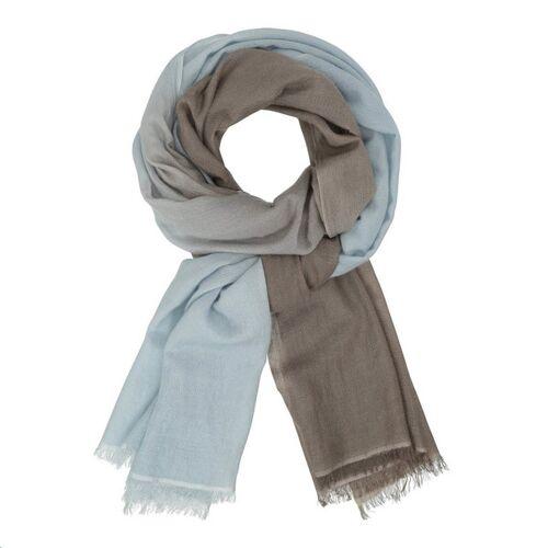 CARE BY ME Schal Dip Dye blue/khaki brown