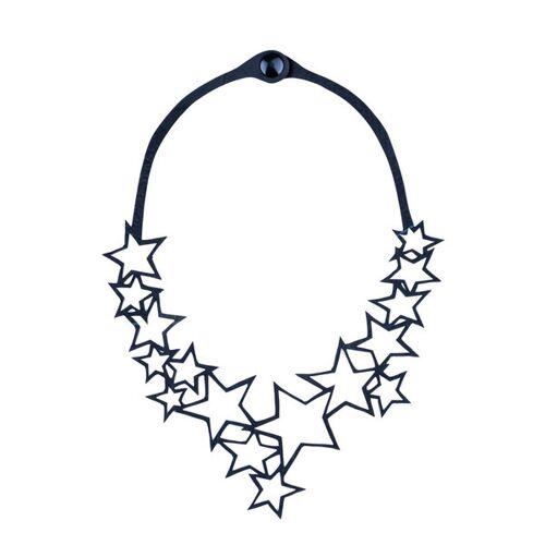 Paguro Upcycle Star Vegane Halskette Aus Recyceltem Kautschuk