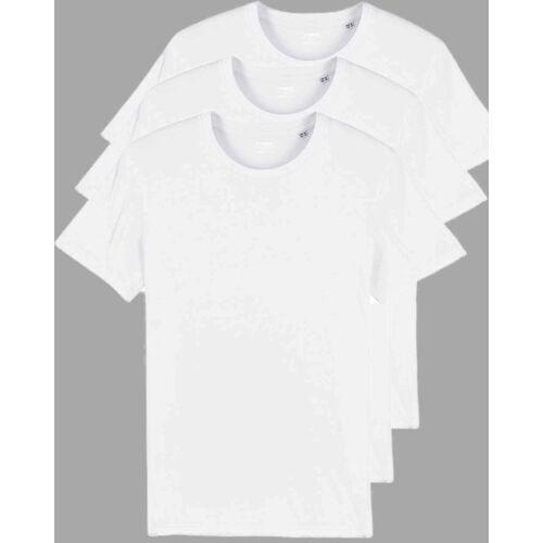 YTWOO 3er Pack Basic Bio T-shirts Für Sie Und Ihn, Viele Farbkombinationen weiß XS