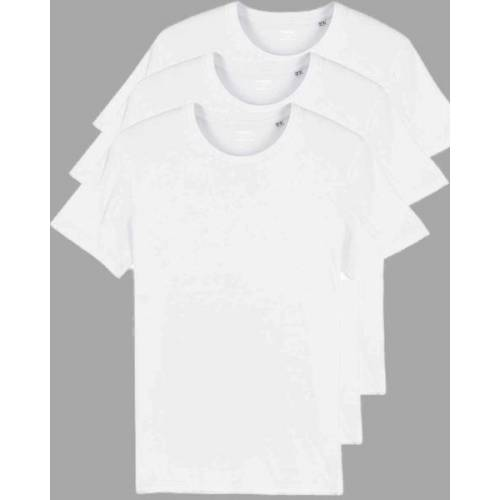 YTWOO 3er Pack Basic Bio T-shirts Für Sie Und Ihn, Viele Farbkombinationen weiß M