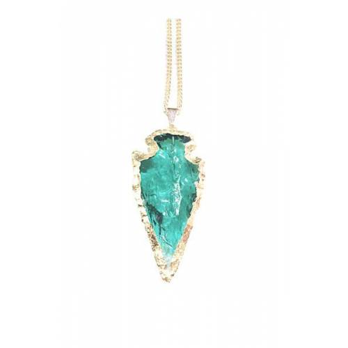 Crystal and Sage Arrow - Obsidian Halskette Von Crystal And Sage sage