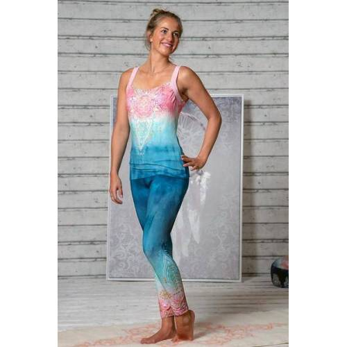 The Spirit of OM Yogatop Mandala Indigo/peach indigo L