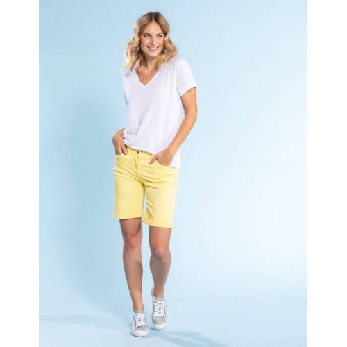 Deerberg Leinenjersey-shirt Nanon weiß 2XL