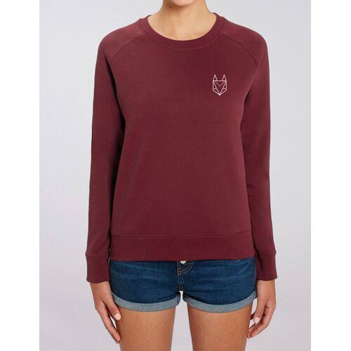 Róka - fair clothing Pullover Mit Besticktem Fuchs - Frauen burgund S