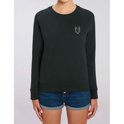 Róka - fair clothing Pullover Mit Besticktem Fuchs - Frauen schwarz L