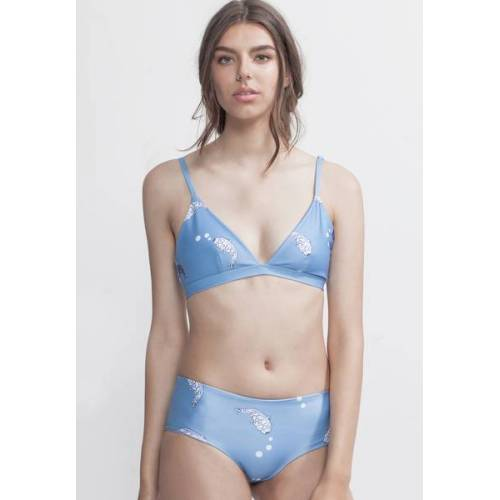 boochen l boo surfwear Bikini Top Amami - Reversible Surf Bikini - Koi Fish / Light Blue blue L
