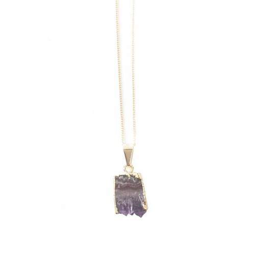 Crystal and Sage Arwen - Vergoldete Amethyst Halskette amethyst