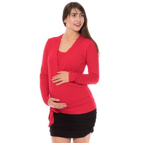 Milchshake Grazia Langarm Shirt Aus Bambusfaser rot M